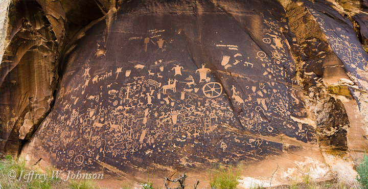 Newspaper Rock Petroglyphs Panorama
